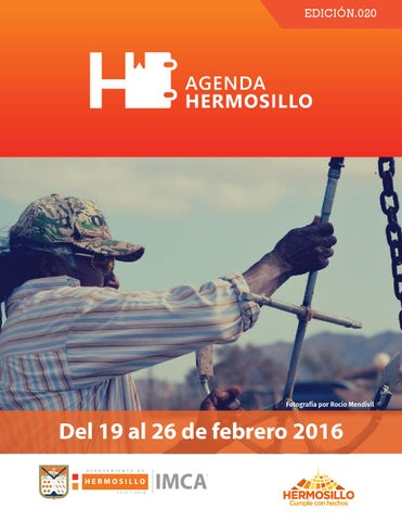 "Cover of ""Agenda Hermosillo del 19 al 26 de febrero"""