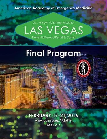 AAEM16 Final Program by American Academy of Emergency Medicine - issuu