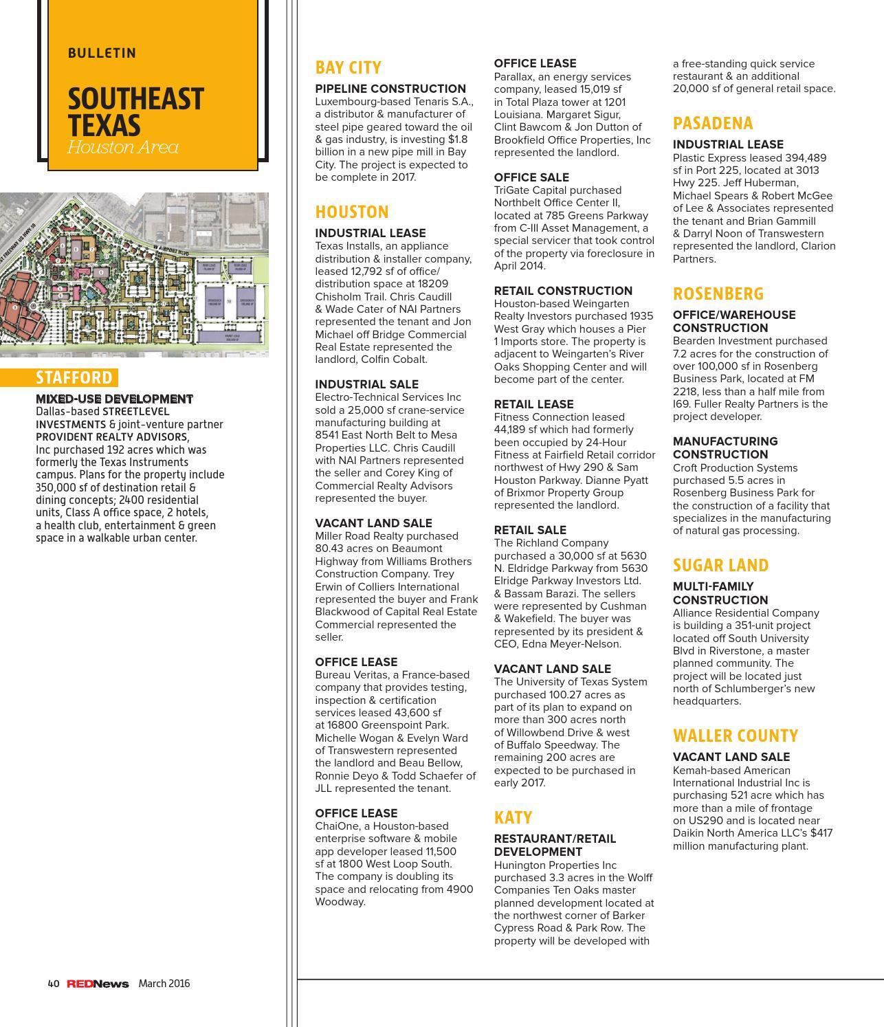REDNews March 2016 - North Texas by REDNews - issuu
