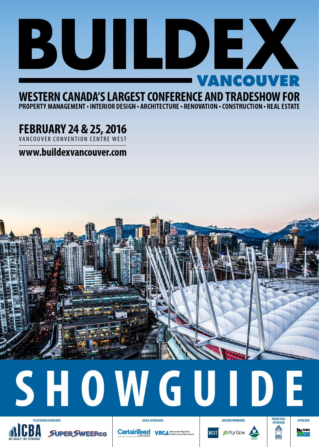 Buildex vancouver 2016 showguide by informa vancouver issuu for Interior design show vancouver 2016
