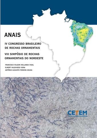ANAIS DO IV CONGRESSO BRASILEIRO DE ROCHAS ORNAMENTAIS VIII SIMPÓSIO DE  ROCHAS ORNAMENTAIS DO NORDESTE 3460247cf5