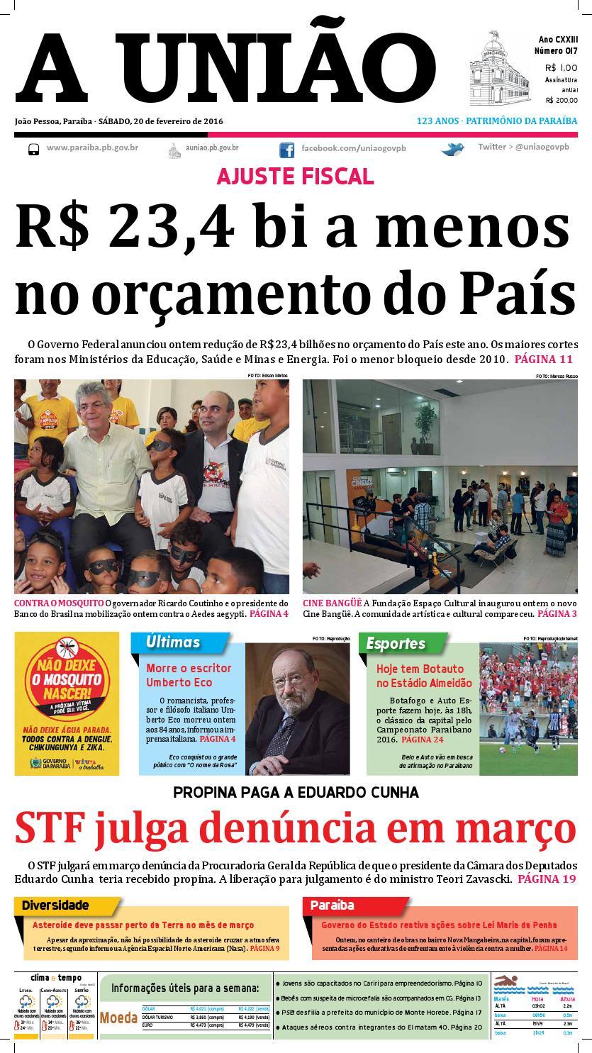 Jornal A União 20 02 16 by Jornal A União - issuu 3847f4b0228b1