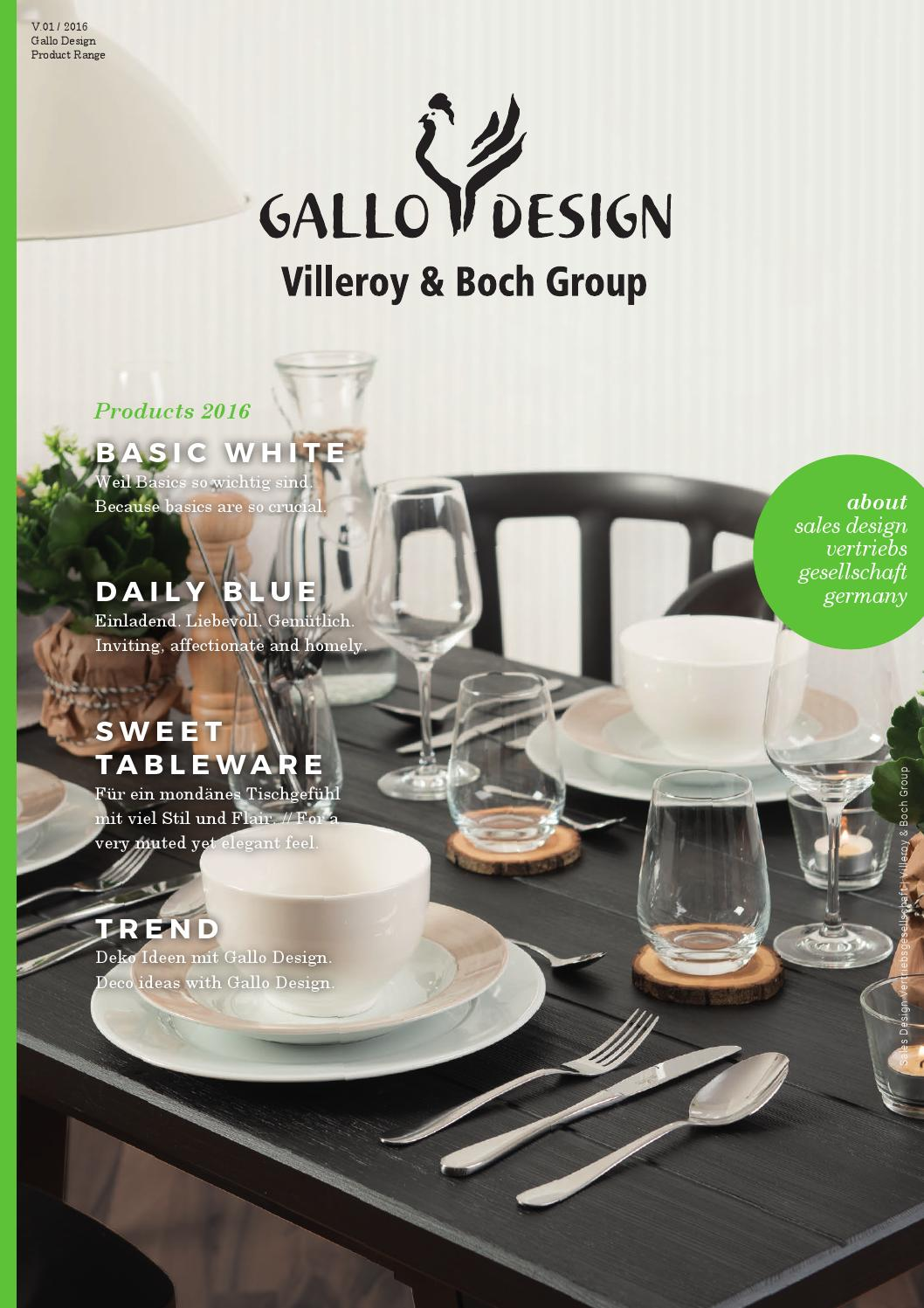 gallo design villeroy boch group by sales design sdv issuu. Black Bedroom Furniture Sets. Home Design Ideas