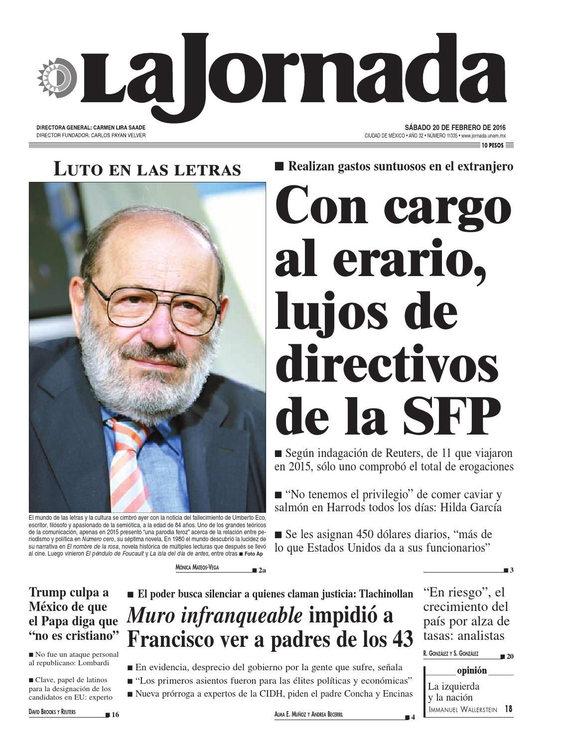 d7a4fdc6 La Jornada, 02/20/2016 by La Jornada - issuu
