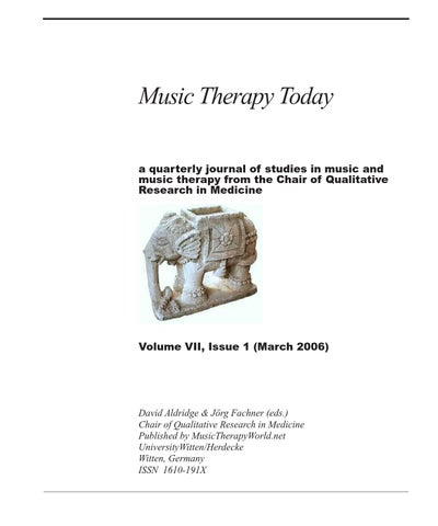 Music therapy today vol 7 no 1 by world federation of music page 1 fandeluxe Images