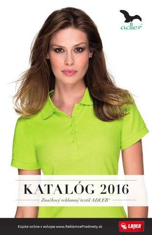 K ATALÓG 2016 Značkový reklamný textil ADLER® 46018d558dc