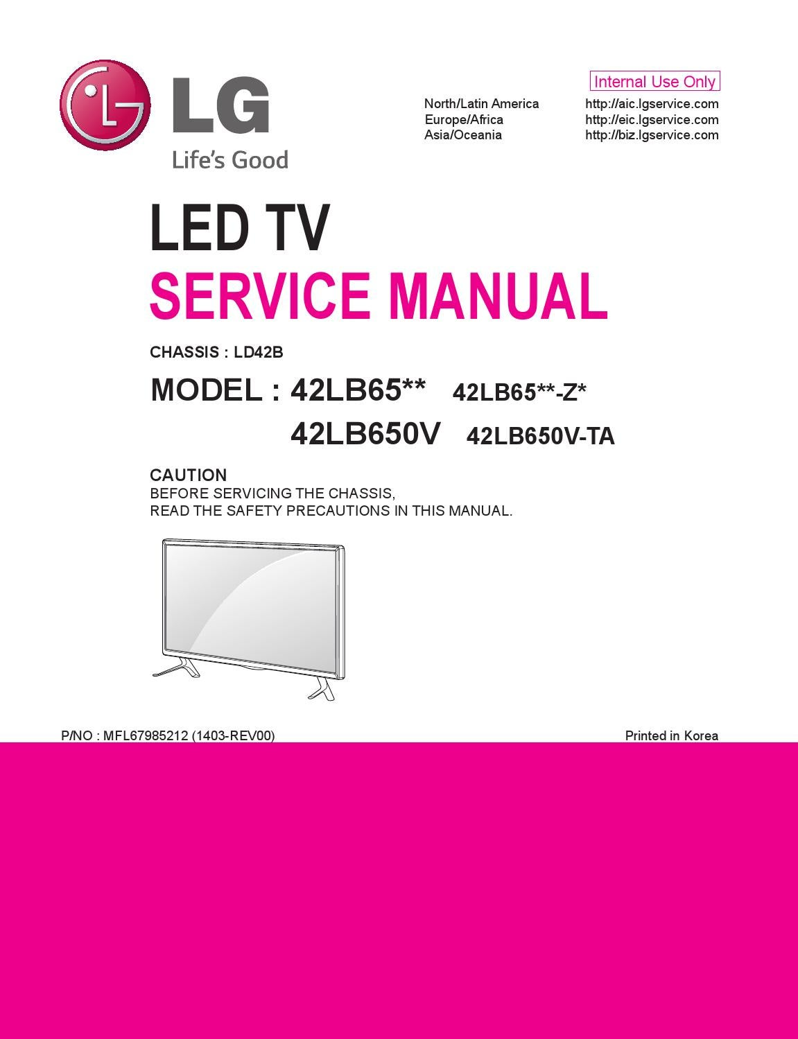 manual de servi o televisor de led marca lg modelo. Black Bedroom Furniture Sets. Home Design Ideas