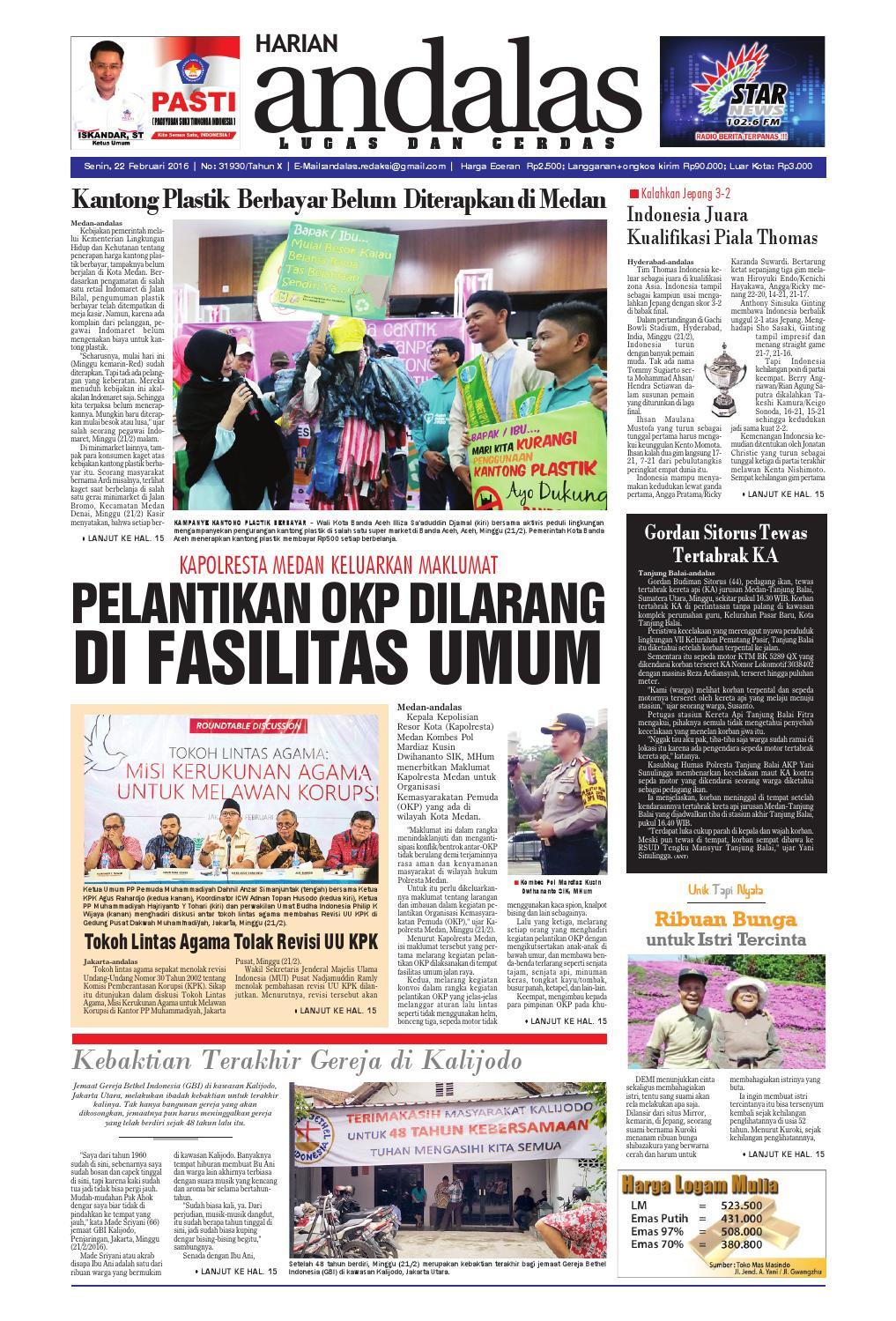 Epaper andalas edisi senin 22 februari 2016 by media andalas - issuu bdc99f9c5b