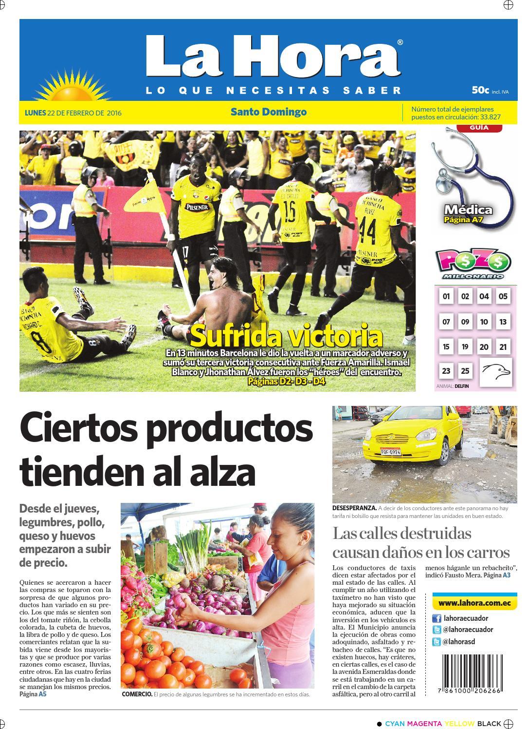 Santo Domingo 22 de febrero de 2016 by Diario La Hora Ecuador - issuu