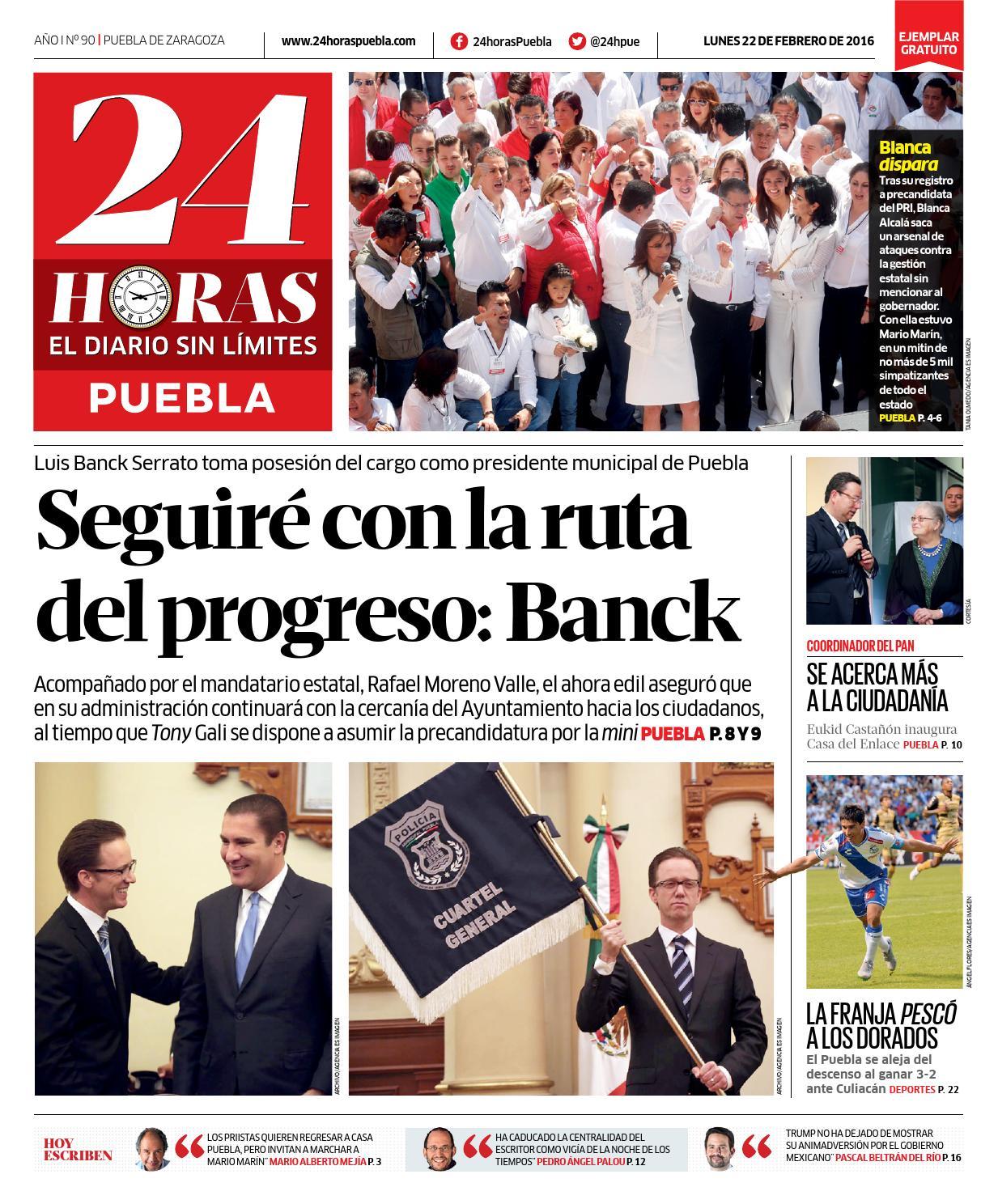 24h–febrero 22 puebla by 24 Horas Puebla - issuu