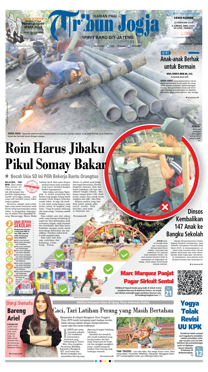 Tribunjogja 15 02 2016 By Tribun Jogja Issuu Produk Ukm Bumn Pusaka Coffee Pcs Kopi Herbal Nusantara Free Ongkir Depok Ampamp Jakarta