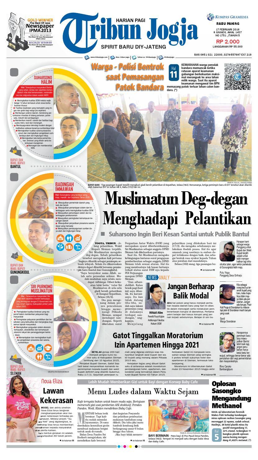 Tribunjogja 17 02 2016 By Tribun Jogja Issuu Produk Ukm Bumn Kain Batik Eksklusif Lasem Manuk