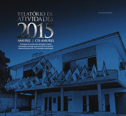 """Cover of """"Relatório de Atividades AMUREL -  2015"""""""