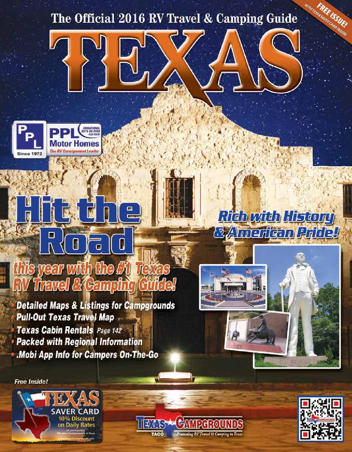 2016 Texas RV Travel Camping Guide By AGS Advertising