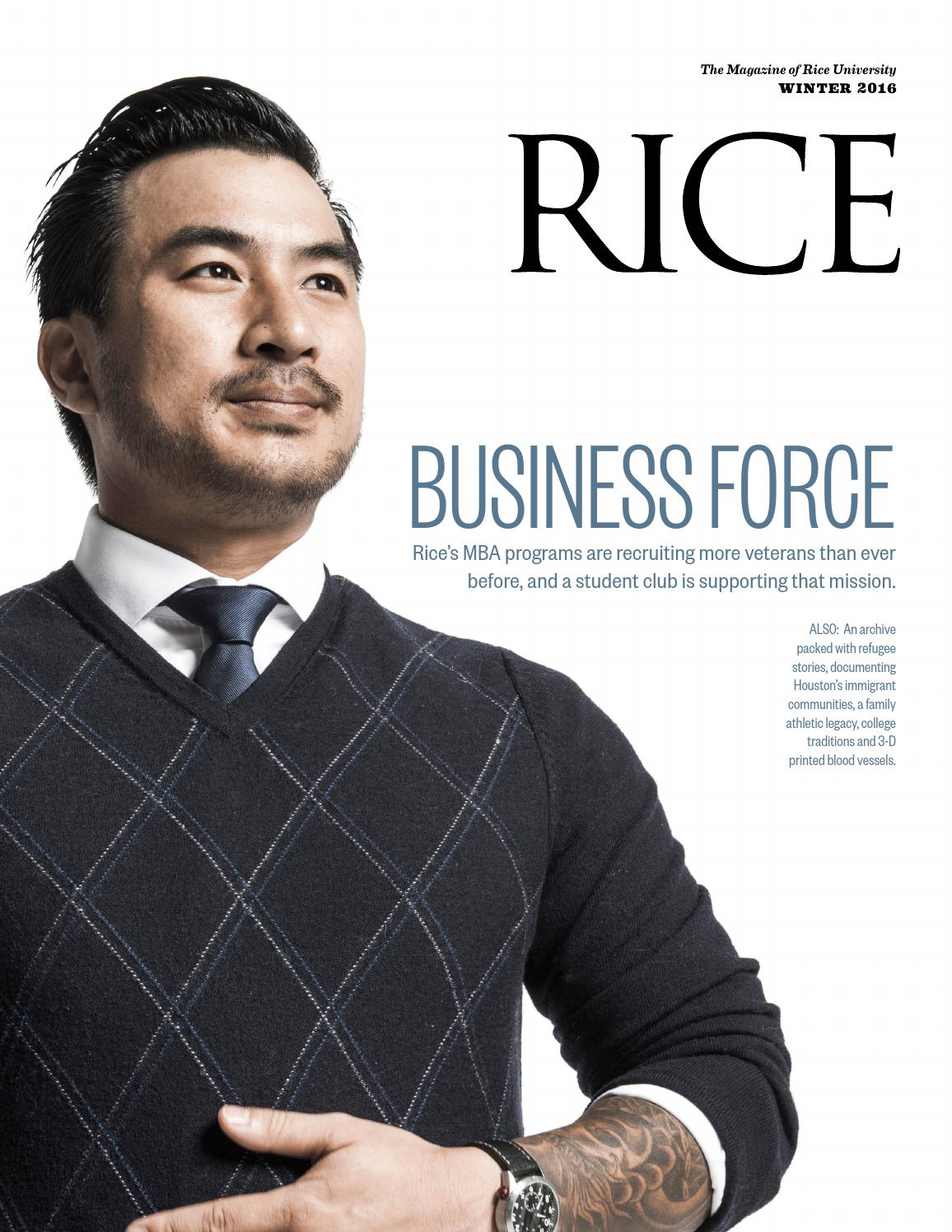 Rice University | Winter 2016 by Rice University - issuu