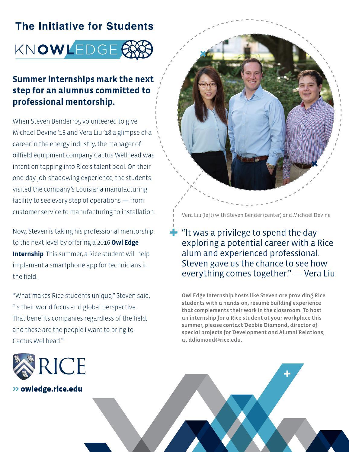 Rice University | Winter 2016 by Rice University - issuu