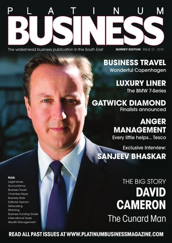 PLATINUM BUSINESS MAGAZINE - ISSUE 21 - SURREY EDITION by Platinum ... 822e2d571