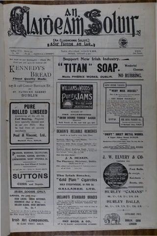 An Claidheamh Soluis: Eanáir-Meitheamh 1912 by Conradh na Gaeilge