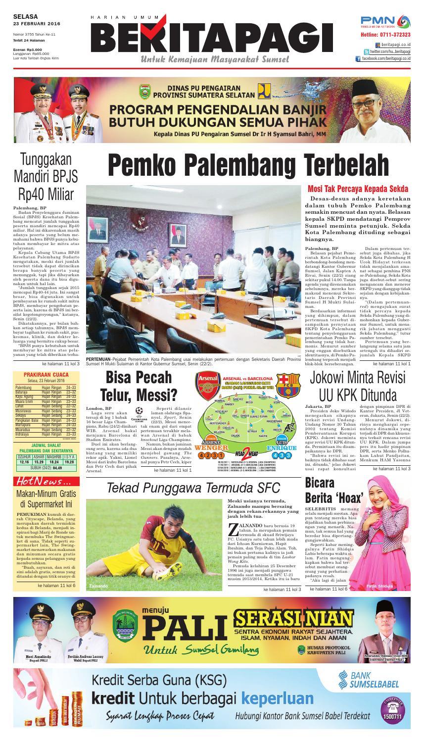 Selasa 23 Februari 2016 By Beritapagi Issuu Rkb Bni Tegal Kranjang Buah Nur Fashion And Art