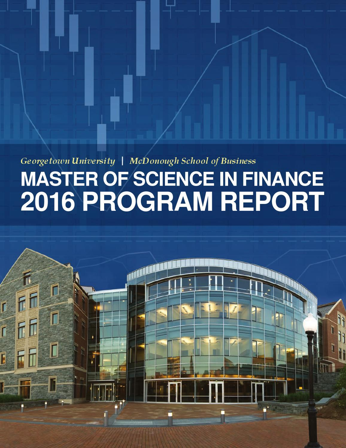 Master of Science in Finance 2016 Program Report by ...