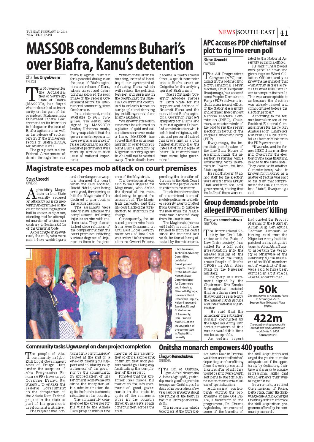New telegraph tuesday, february 23, 2016 binder1 by