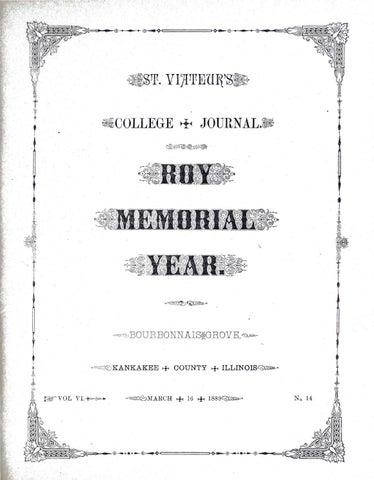 St Viateur S College Journal 1889 03 16 By Viatorians Issuu