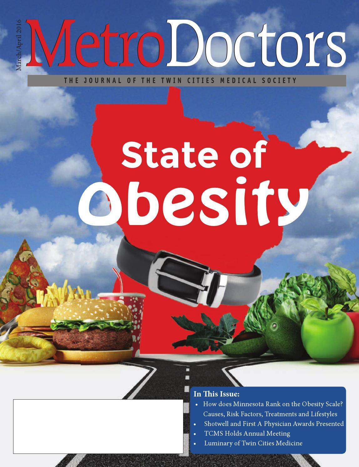 March April 2016 State Of Obesity By Twin Cities Medical Society