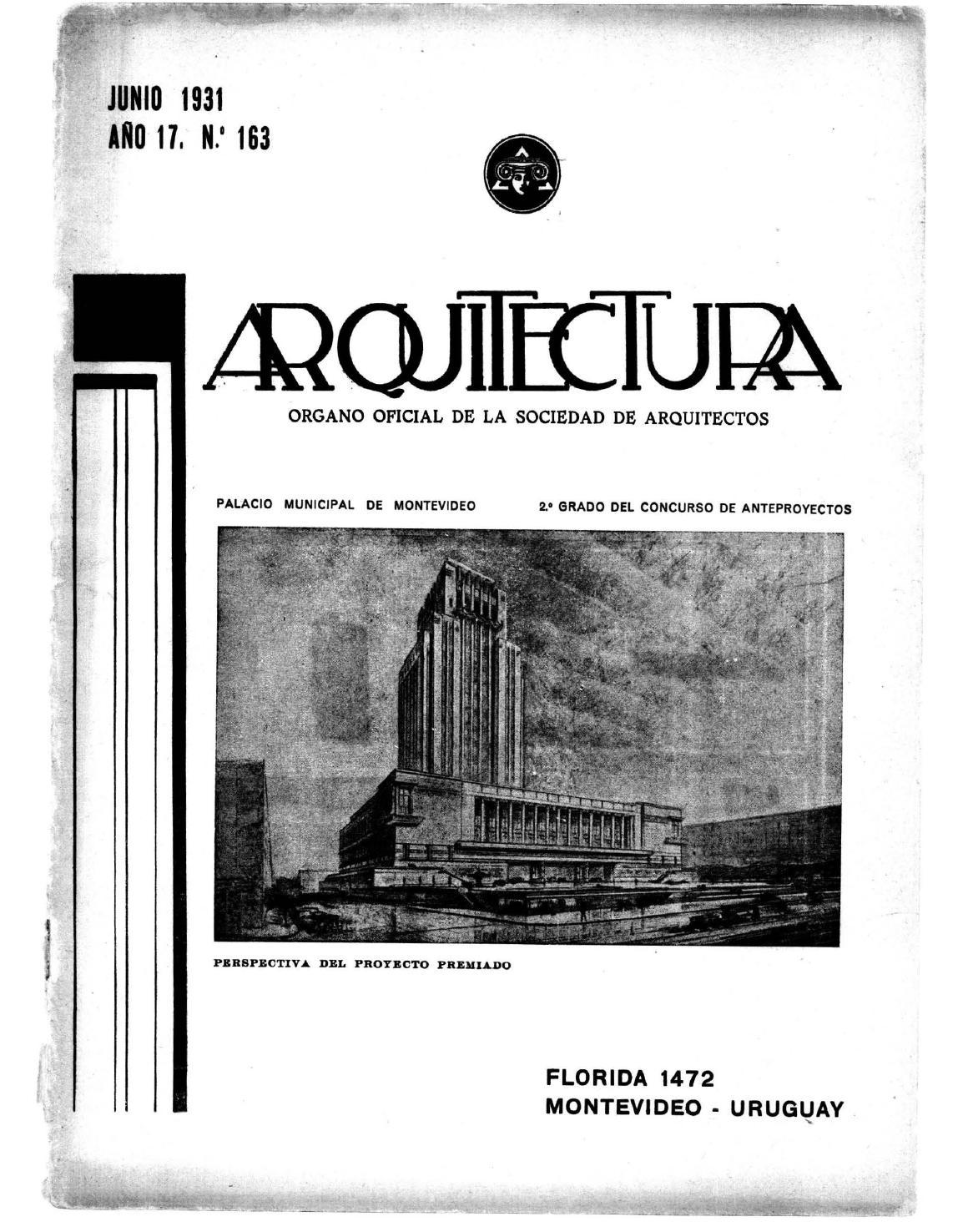 Arquitectura 163 1931 by sociedad de arquitectos del - Sociedad de arquitectos ...