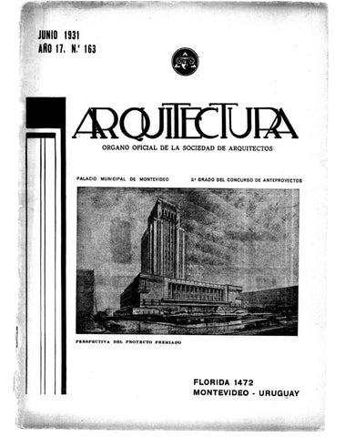 Arquitectura 163 1931 by sociedad de arquitectos del uruguay sau issuu - Sociedad de arquitectos ...