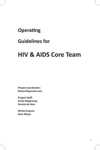 DOH HIV & AIDS Core Team Operating Guidelines by REDHOT - issuu