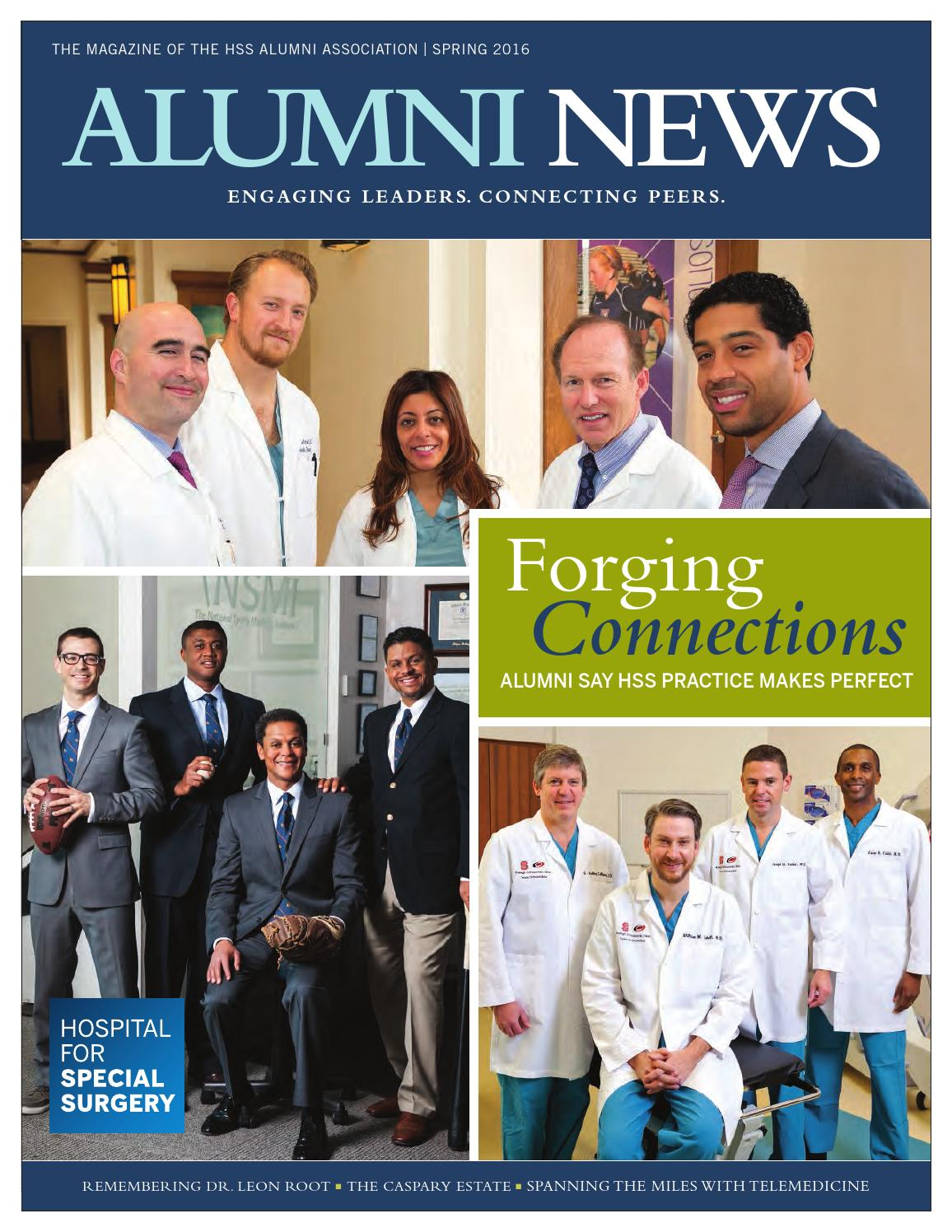 Alumni News Spring 2016 by Hospital for Special Surgery - issuu