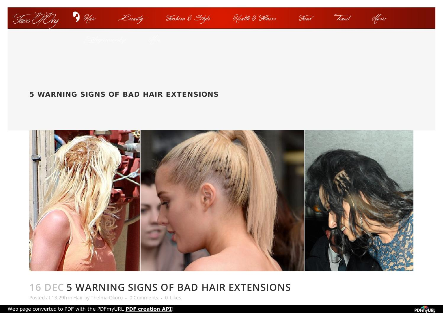 5 Warning Signs Of Bad Hair Extensions Faces Of Ony By Bad Hair