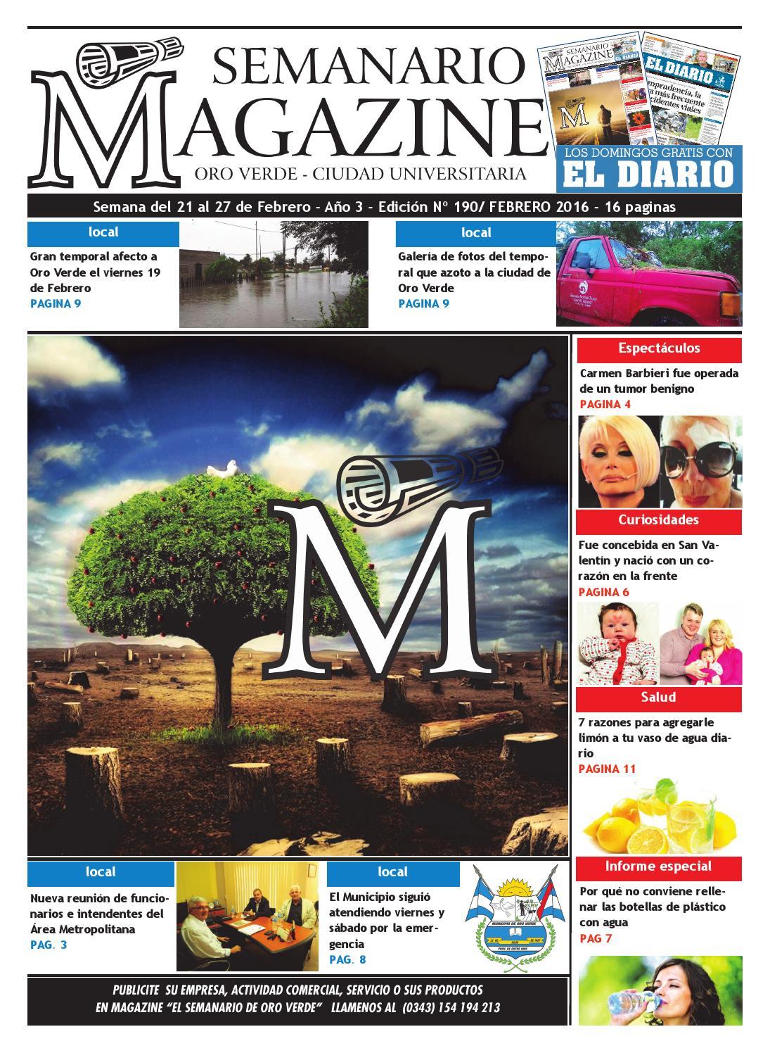 59 Semanario Magazine Edicion N 190 Semana Del 21 Al 27 De  # Muebles Viuda De Juan Parera