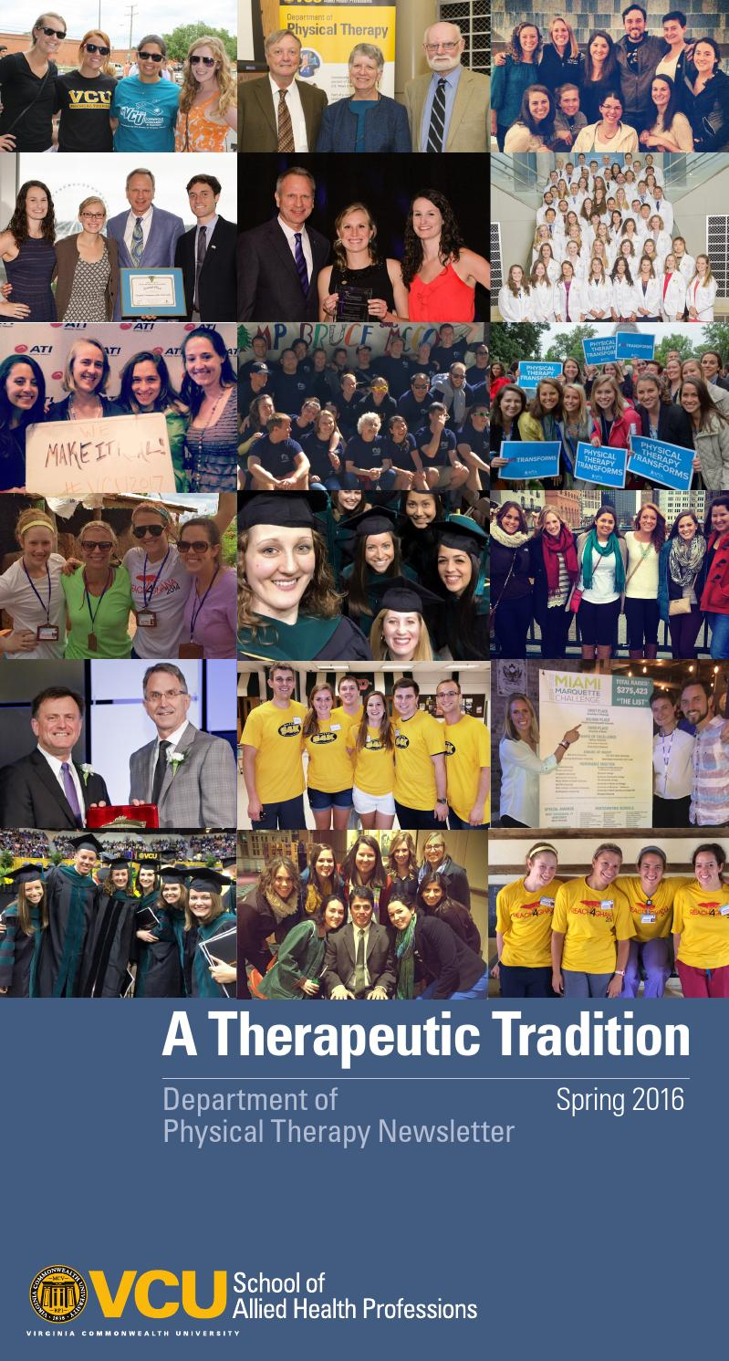 Garden state physical therapy - Vcu Physical Therapy Newsletter Spring 2016 By Vcu Physical Therapy Issuu
