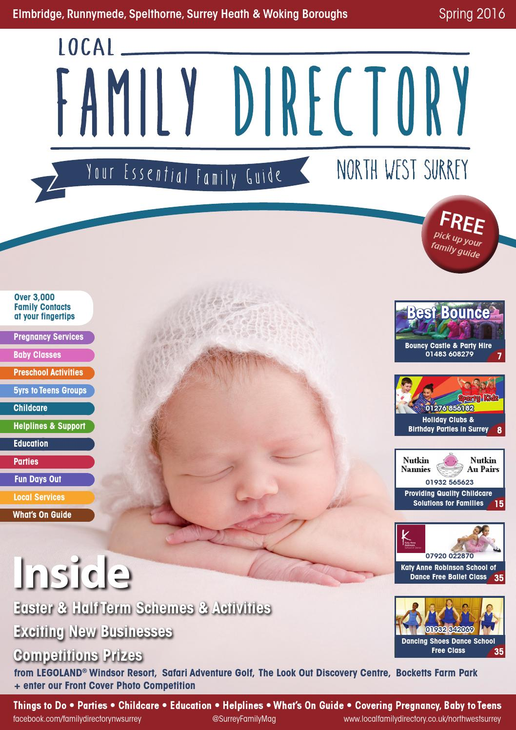 e9fb89c86 Local Family Directory North West Surrey March - July Spring 2016 Edition  by Family Life Guide