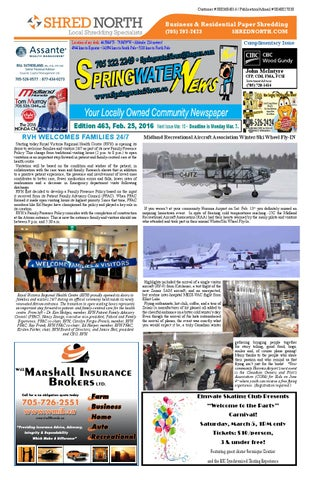 February 25 2016 edition 463 for web by springwater news issuu page 1 fandeluxe Gallery