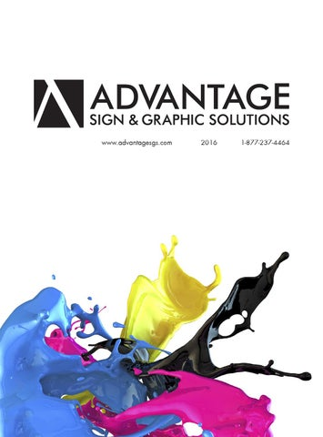 Advantage Sign & Graphic Solutions Catalog by Sam Tumolo - issuu