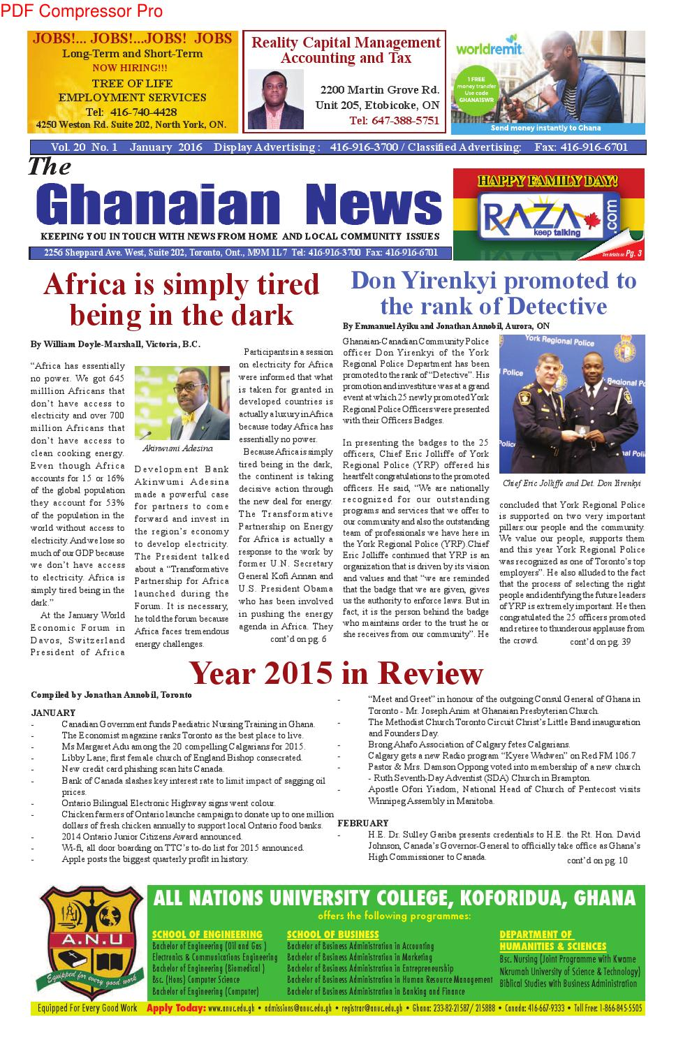 Ghanaian News January 2016 By Razak Ray Axe Banks Issuu