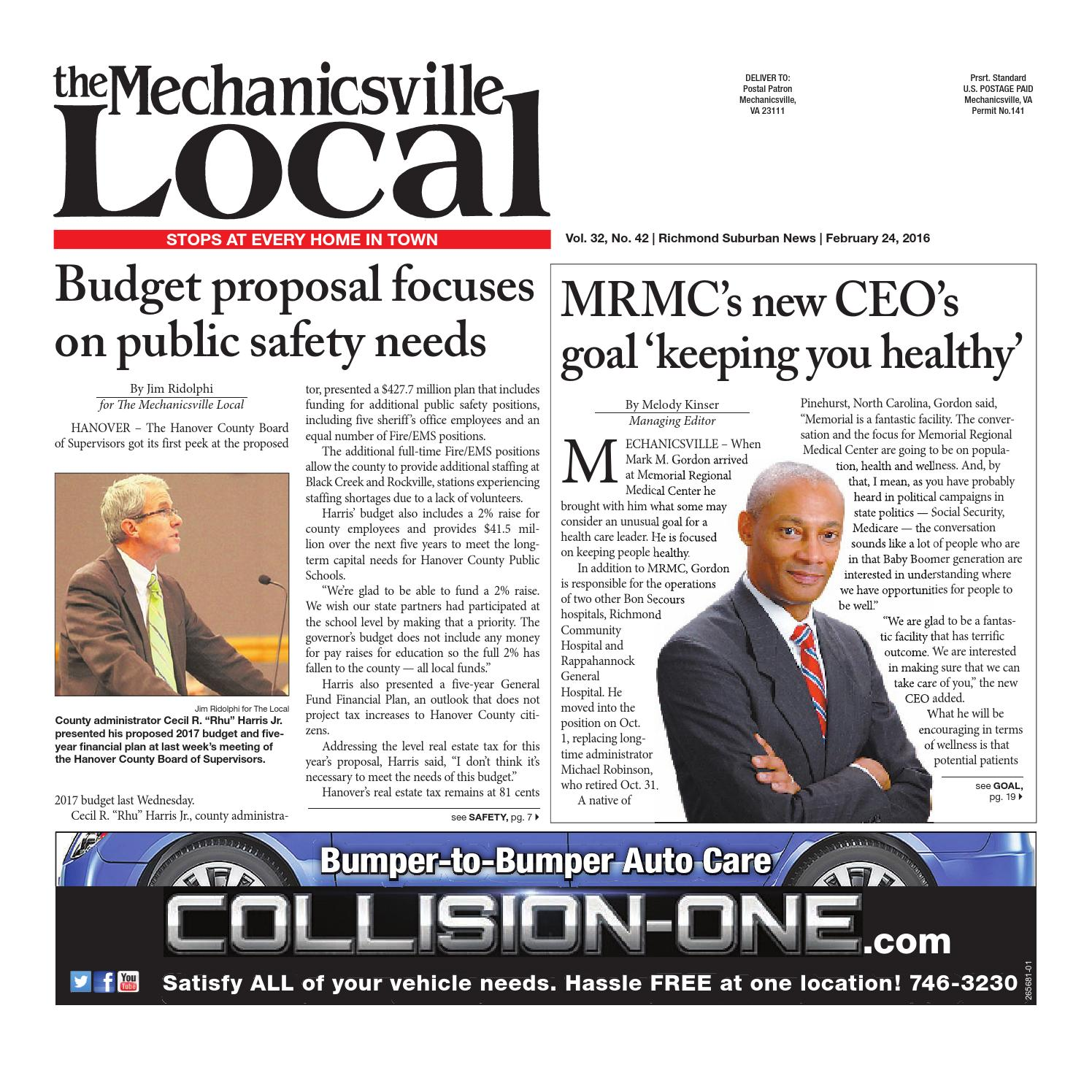 02/24/16 by The Mechanicsville Local - issuu