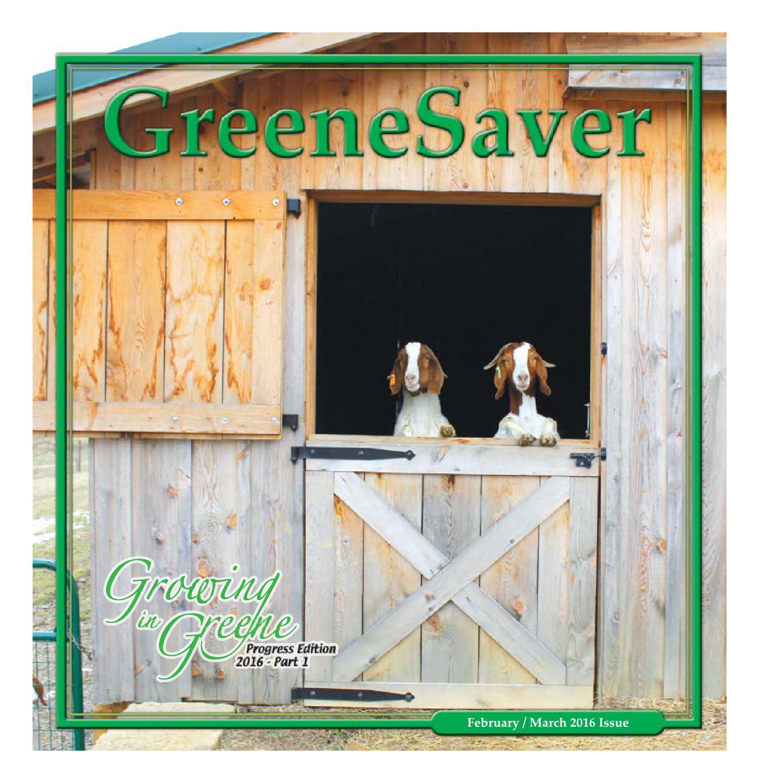 February / March Greenesaver 2016 by GreeneScene Community