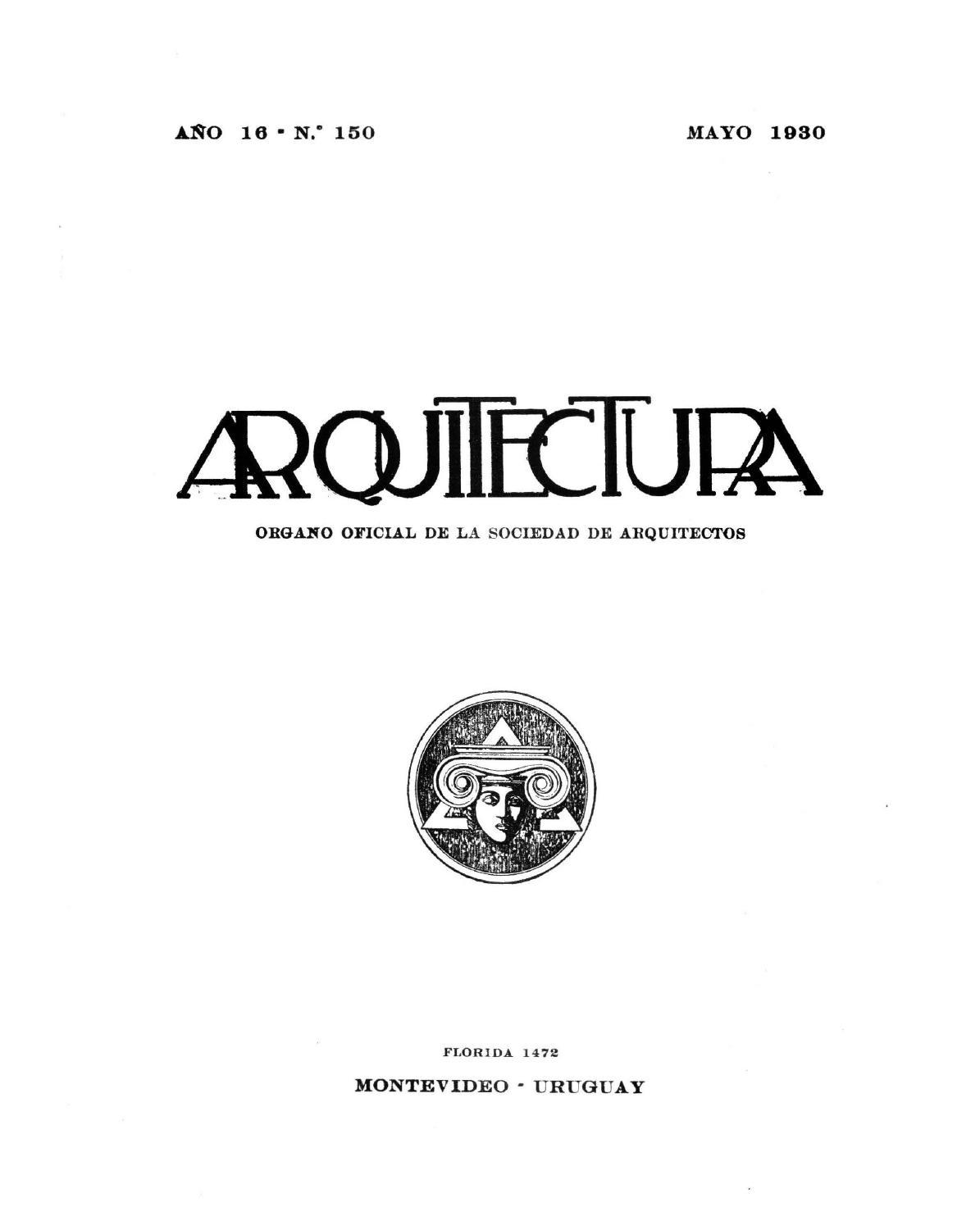 Arquitectura 150 1930 By Sociedad De Arquitectos Del Uruguay Sau  # Mateo Muebles Cutral Co