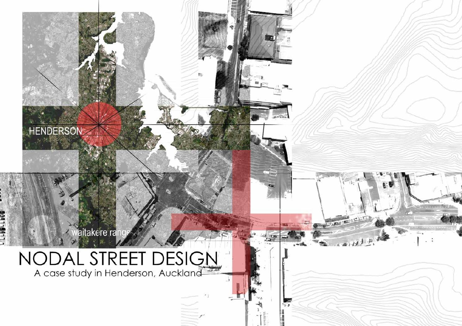 Nodal street design a case study in henderson auckland for Design a case