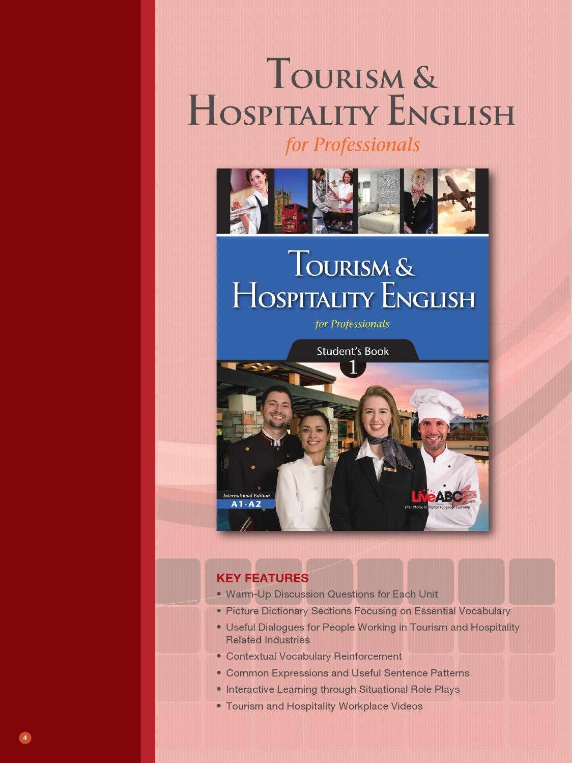 Tourism & hospitality english by liveabc - issuu