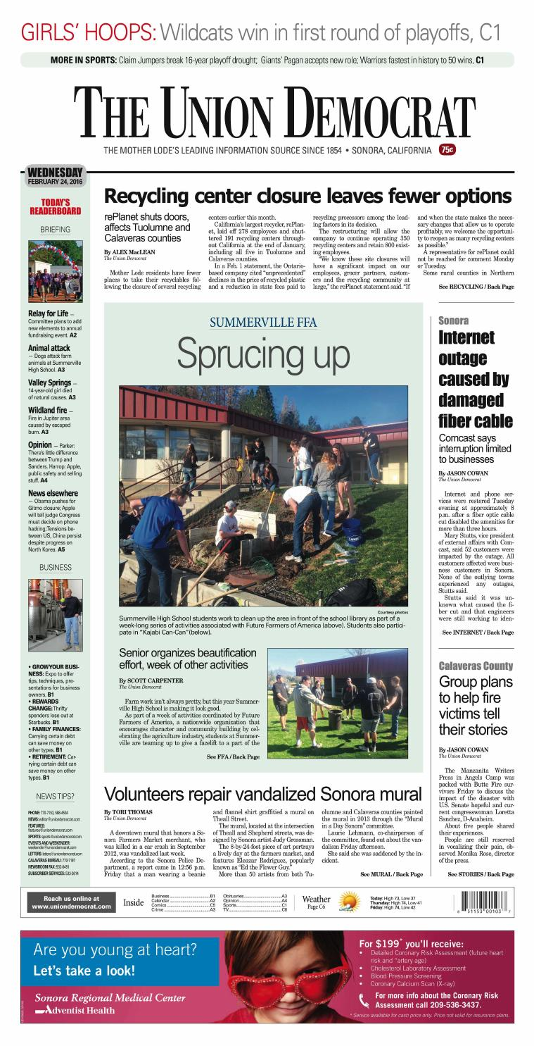 The Union Democrat 02 24 16 By Union Democrat Issuu