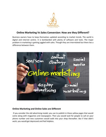 Online Marketing Vs Sales Conversion: How are they Different