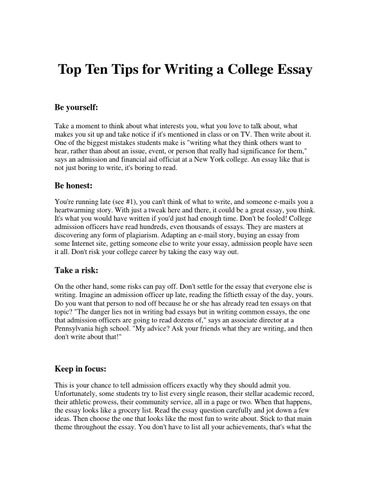 top%ten%tips%for%writing%a% by brian fitzgerald issuu top ten tips for writing a college essay