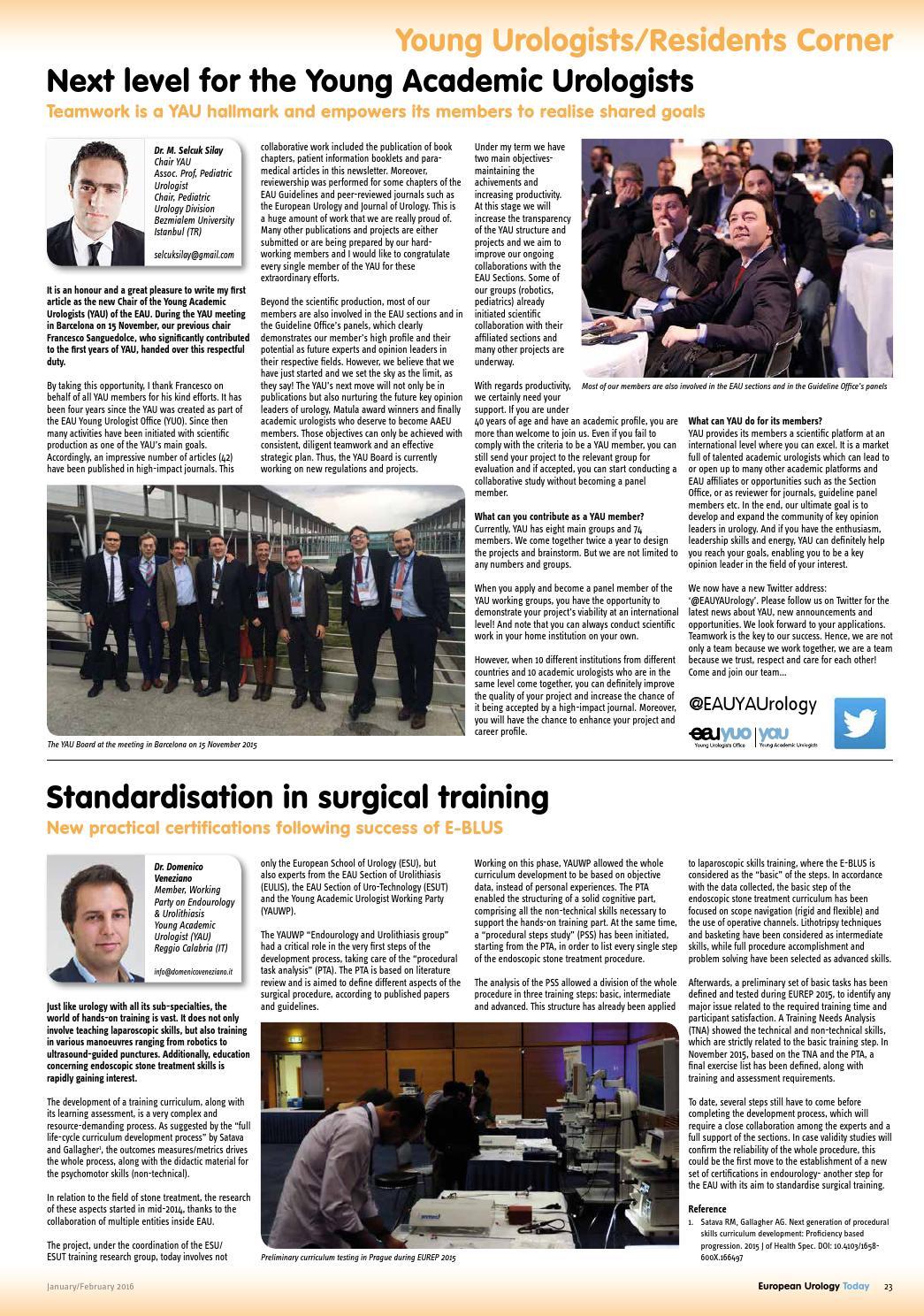 European Urology Today (EUT) Jan/Feb 2016