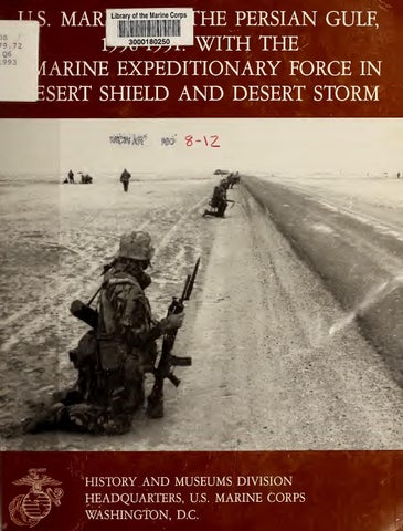 US Marines in the Persian Gulf War (1990-1991) by Marine Forces