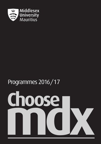 Middlesex University Mauritius Programmes 201617 By