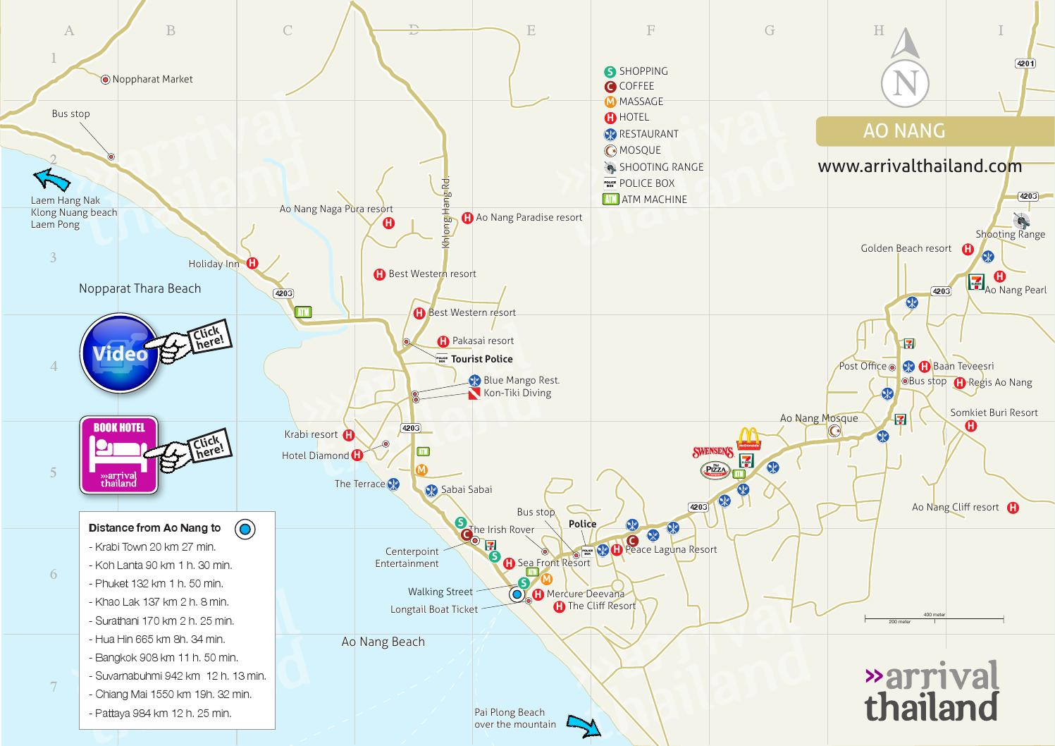 Arrival Thailand Ao Nang Map By Arrival Thailand Issuu